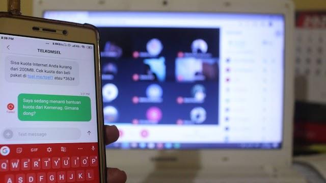 Menanti Bantuan Kuota Internet dari Kemenag
