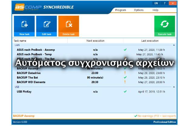 Synchredible - Συγχρονίζουμε με ασφάλεια τα αρχεία μας