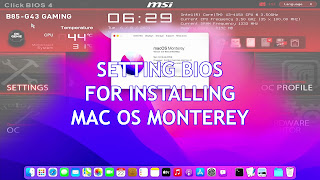 setting bios for install macos monterey on pc non mac