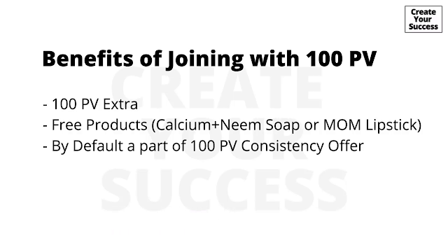Benefits of joining with 100 PV