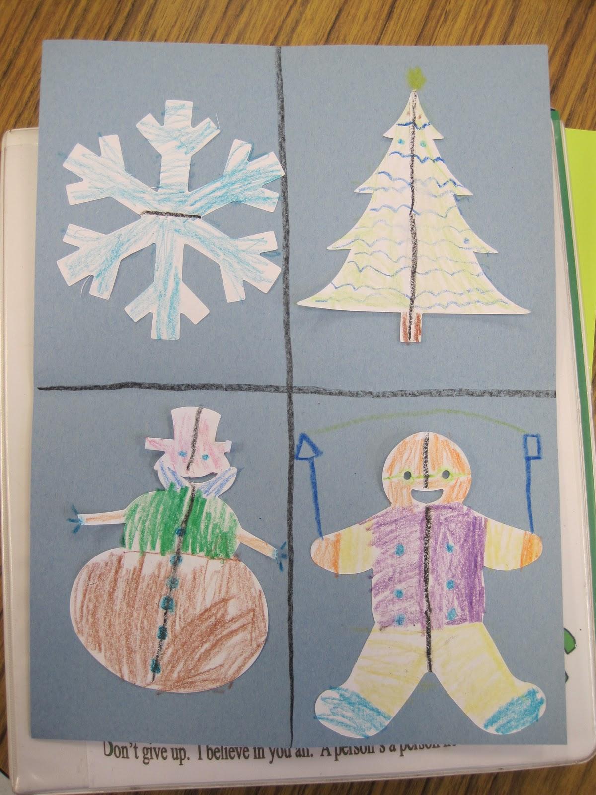 Christmas Symmetry Worksheets