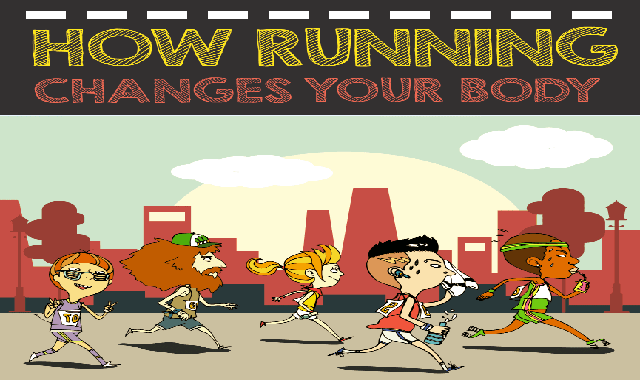 How Running Changes Your Body #infographic