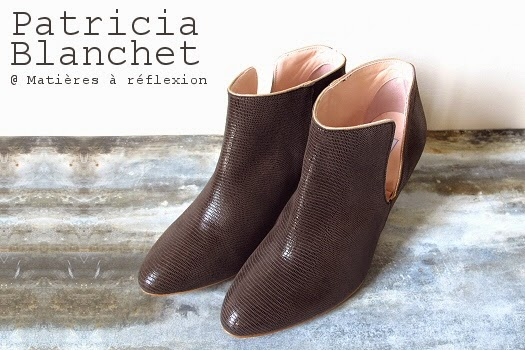 Bottines cuir brillant Patricia Blanchet boots ouvertes taupes