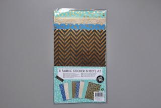 zakupy z action fabric sticker sheets naklejki z tkaniny