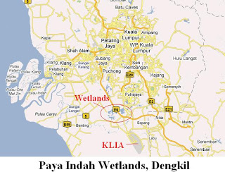 Peta Paya Indah Wetlands