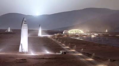 ilustraçao-artistica-da-SpaceX