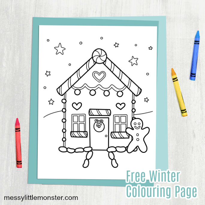 winter colouring page