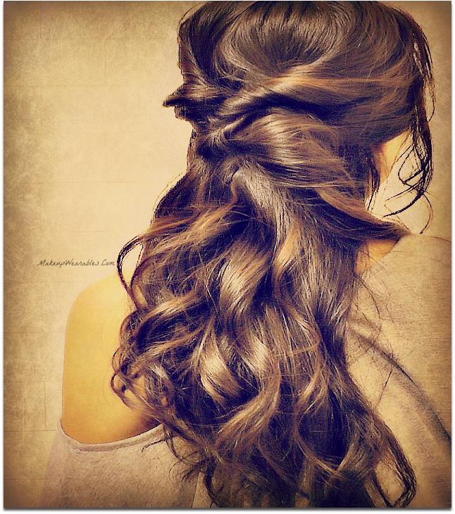 Miraculous Elegant Curly Half Updos Hairstyle For Medium Long Hair Tutorial Video Short Hairstyles Gunalazisus