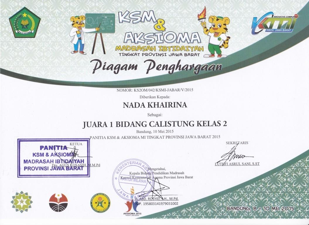 Js Aries Blog Contoh Piagam Penghargaan Calistung