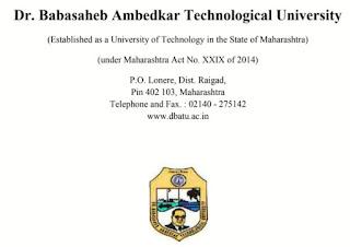 DBATU Syllabus B-Tech  डॉ.बाबासाहेब आंबेडकर टेक्नॉलॉजिकल यूनिवर्सिटी अभ्यासक्रम
