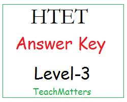 image : HTET Level-3 Answer Key @ TeachMatters.in