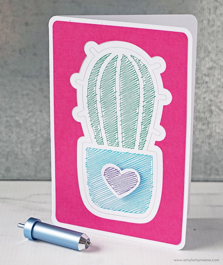 Cricut Foil Cactus Card