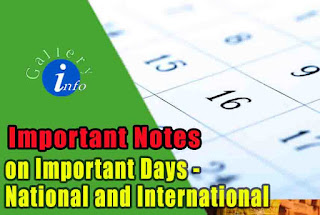 Important Dates for exams National and International