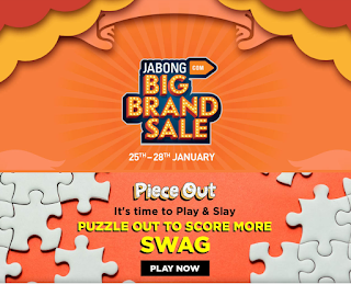 PIECE OUT PUZZLE GAME PLAY AND WIN JABONG POINTS