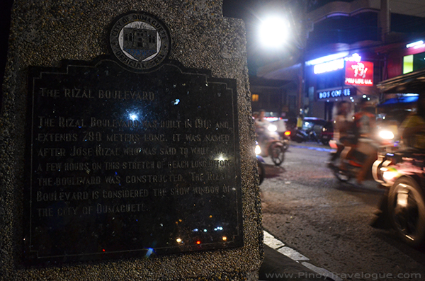 Rizal Boulevard's historical marker