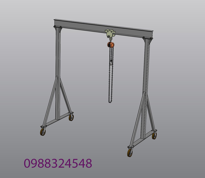 Cổng trục đẩy tay mini 1-2-3-4-5 tấn