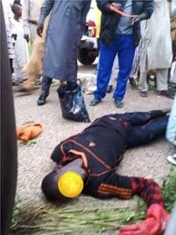 Photos Of Young Man Who Got Electrocuted While Trying To Steal Transformer Parts In Katsina