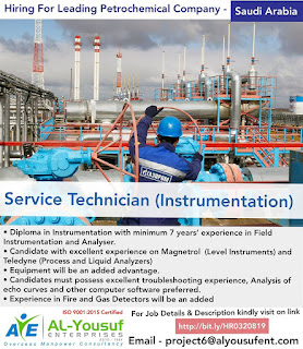 Service Technician job Vacancy for Saudi Arabia