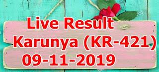 Karunya (KR-421) 09/11/2019 Kerala Lottery Result