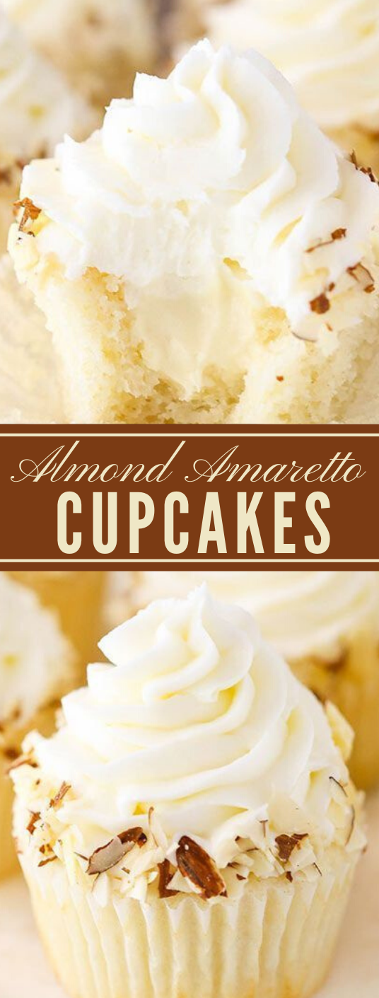 ALMOND AMARETTO CUPCAKES #cupcakes #almond #desserts #easy #recipes