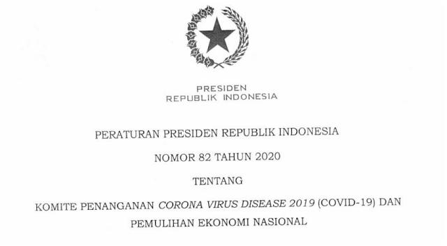 Peraturan Presiden Nomor 82 Tahun 2020