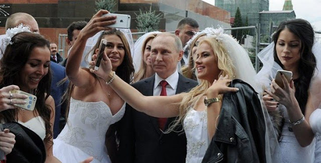 El presidente Putin se convierte en el'Novio' de todas
