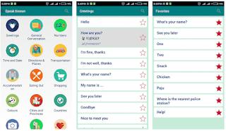 Aplikasi hp android belajar bahas korea offline