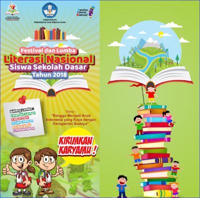 Festival dan Lomba Literasi Nasional Siswa Sekolah Dasar (SD) Tahun 2018
