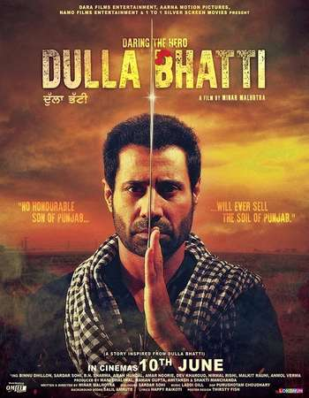 Poster Of Dulla Bhatti Wala 2016 Punjabi 350MB HDRip 720p HEVC Watch Online Free Download Worldfree4u