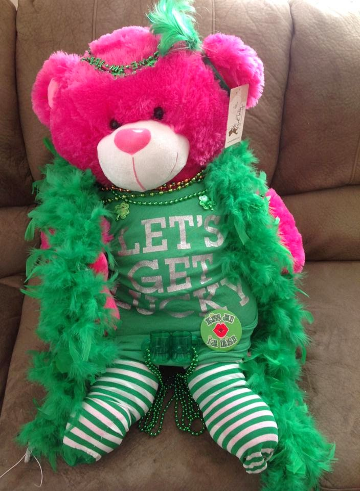 Green Giant Teddy bears are perfect for any holiday