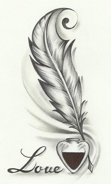 Imagenes De Tatuajes De Plumas Para Hombres