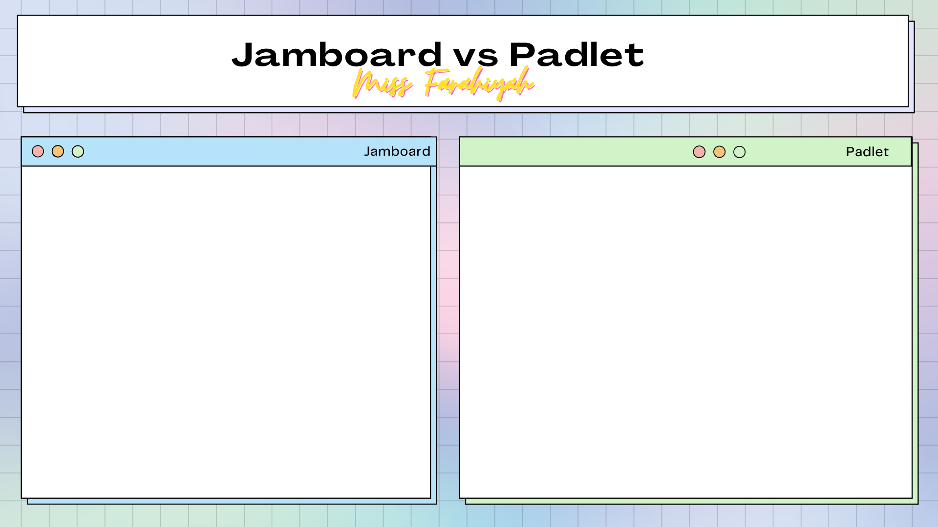 Perbezaan Padlet dan Jamboard