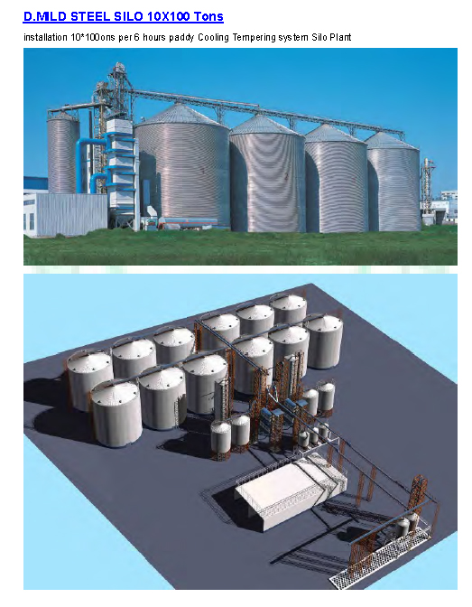 Steel Silos for for Rice mill Industry