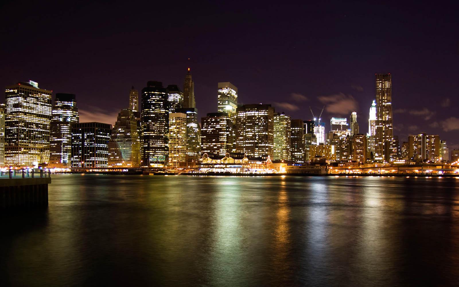 Wallpaper Night City Glow