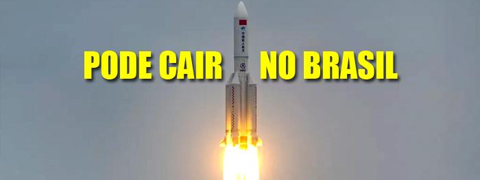 foguete chinês vai cair descontroladamente