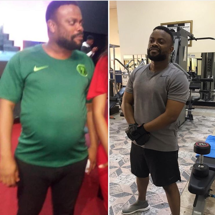 Okon Lagos Flaunts His New Macho Body After Losing His Potbelly