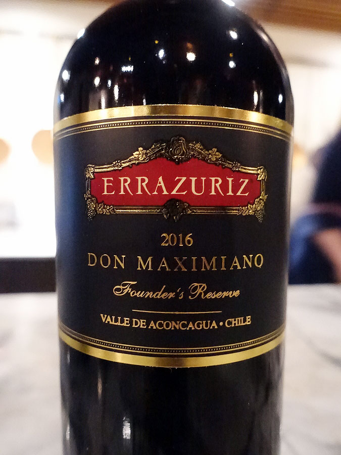 Errázuriz Don Maximiano Founder's Reserve 2016 (94 pts)
