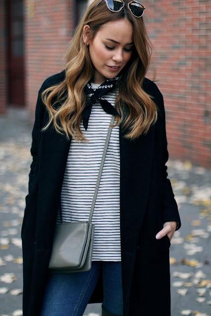 Street Style Stripes And Bandana
