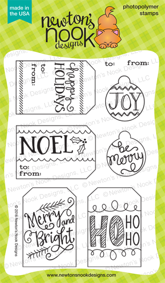 Joyful Tags stamp set by Newton's Nook Designs #newtonsnook