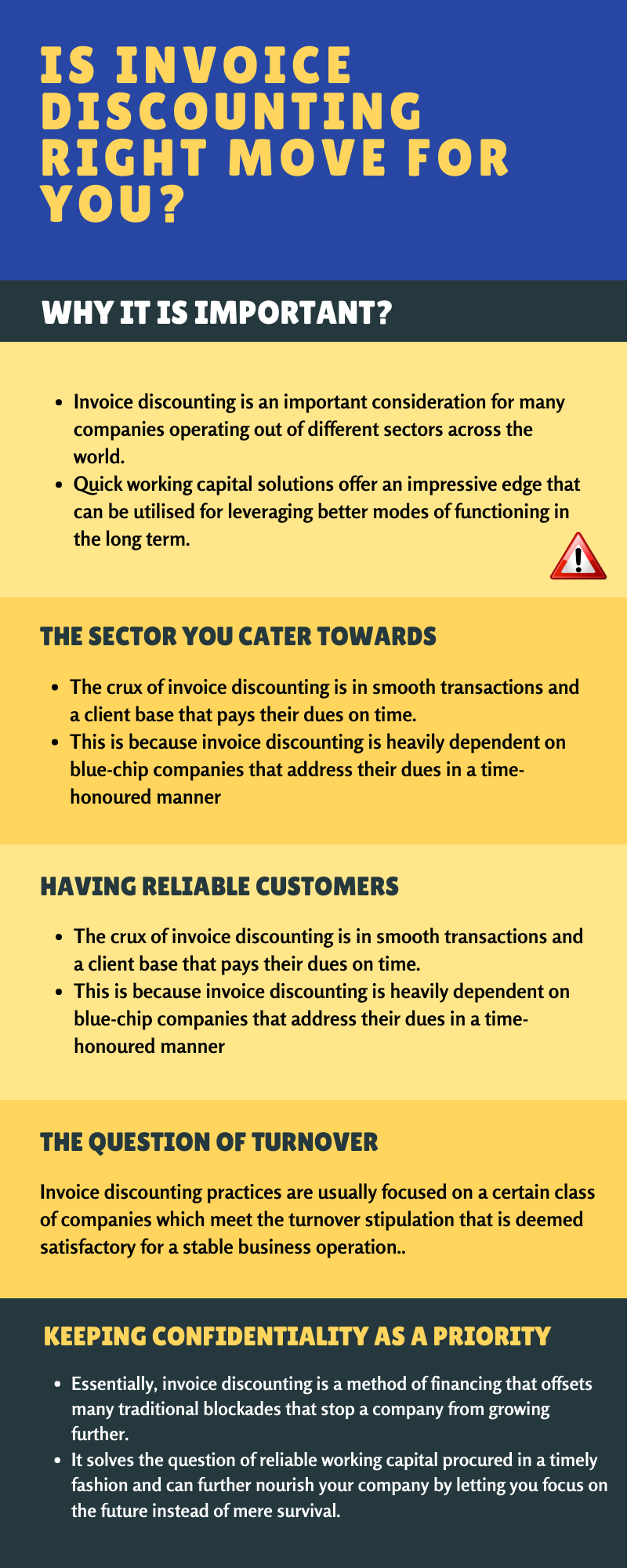 Is invoice discounting right move for you? #infographic #Finance #infographics