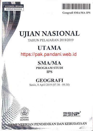 Soal Un Geografi Sma Ips Tahun 2019 Blog Pak Pandani