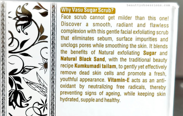 Vasu Sugar Scrub Age Revitalizing claims