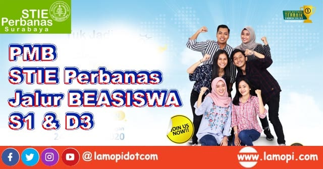 PMB Jalur Beasiswa Penuh STIE Perbanas Surabaya Tahun 2020 - 2021