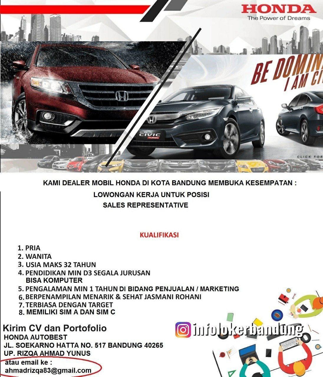Lowongan Kerja Honda Autobest Bandung Agustus 2019