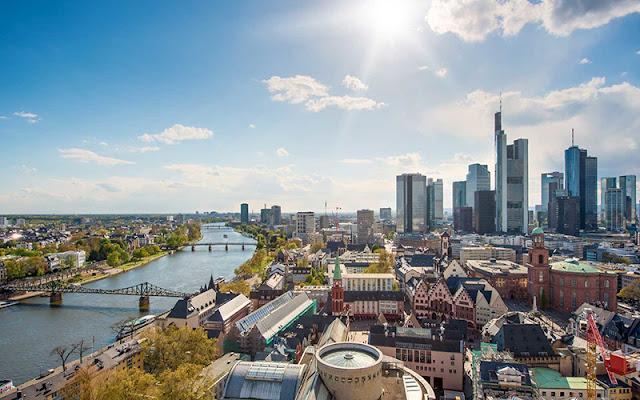 Vista de Frankfurt na Alemanha
