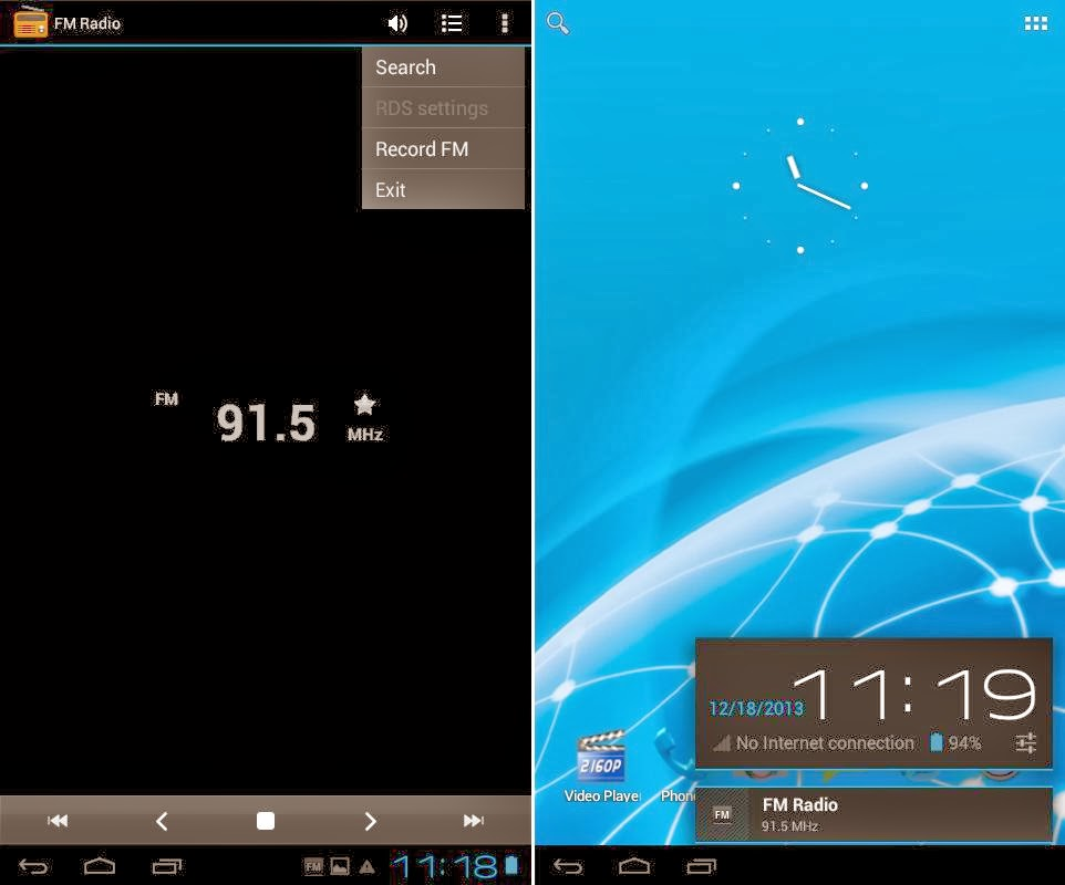 SKK Mobile Phoenix Tab 4 FM Radio