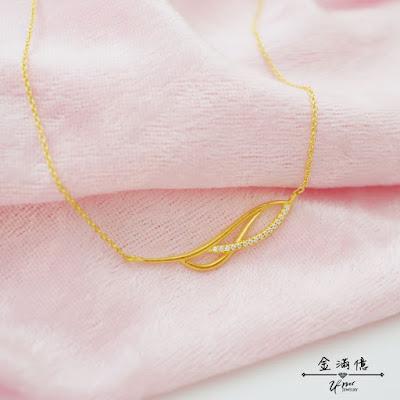 葉子造型-黃金項鍊