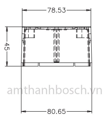 Hộp gắn bề mặt Bosch LM1-SMB-U40