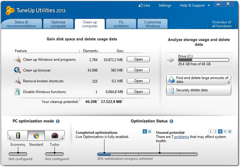 Tuneup Utilities 2018 Windows 10