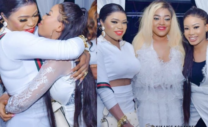 PHOTOS: Bobrisky and Nina all Loved up Together and Makeup